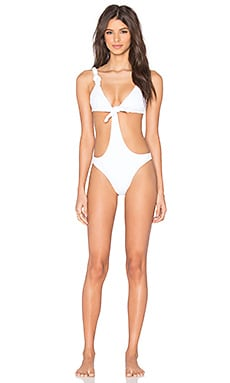 MINIMALE ANIMALE The Cheatin' Heart Swimsuit in Sea Salt