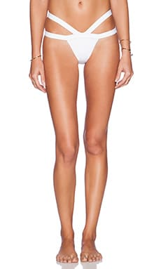 MINIMALE ANIMALE The Bandit Bikini Bottom in Conch