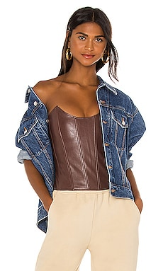 Leia Faux Leather Corset Miaou $265