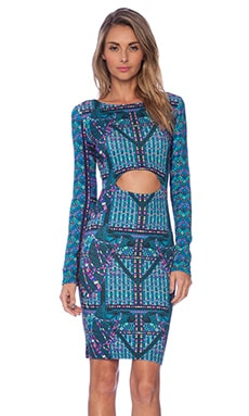 Mara Hoffman Front Cutout Midi Dress in Camels Teal