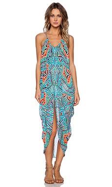 Mara Hoffman Draped Dress in Estrada Turquoise