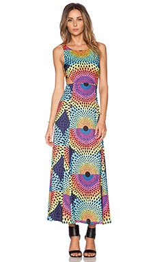 Mara Hoffman Cut Out Maxi Dress in Electrolight Blue