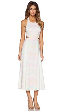 Mara Hoffman Cut Out Back Tie Maxi Dress in Receptor Citrus