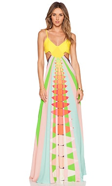 Mara Hoffman Cut Out Maxi Dress in Beams Yellow