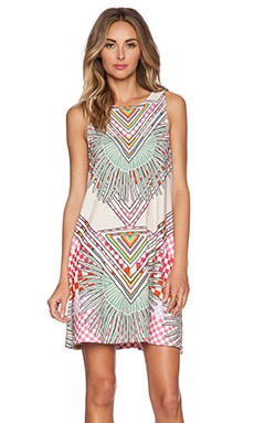 Mara Hoffman Swing Dress in Rainbow Palm Stone