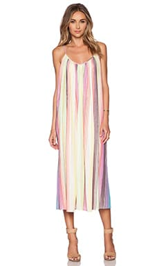 Mara Hoffman Tank Maxi Dress in Rainbow Stripe