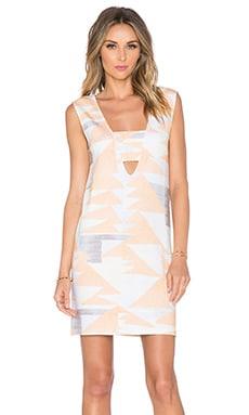 Mara Hoffman V-Neck Mini Dress in Loom Peach