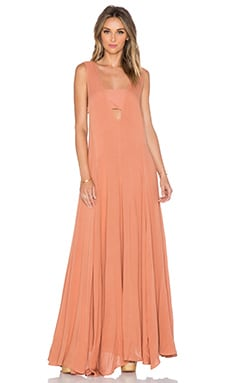 Mara Hoffman V-Neck Maxi Dress in Terracotta