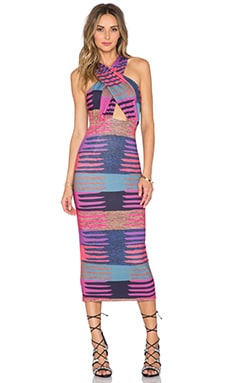 Mara Hoffman Criss Cross Midi Dress in Connector Pink