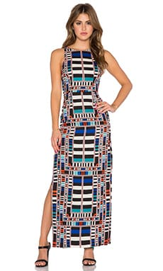 Mara Hoffman Cut Out Column Dress in Riser Navy