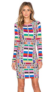 Fitted Dress in Riser Rainbow
