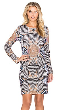 Shift Dress in Star Basket Nude