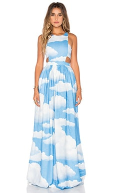 Racerback Dress in Clouds