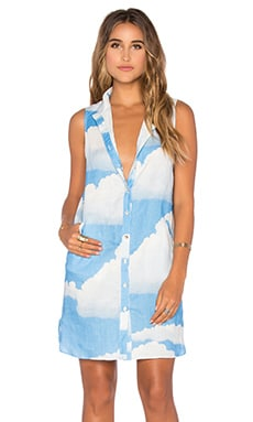 Mara Hoffman Shirt Dress in Clouds