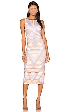 Prism V-Back Midi Dress in Lavender