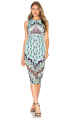 Bolnisi Rug Midi Dress in Turquoise