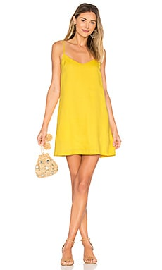 Spaghetti Mini Dress en Jaune