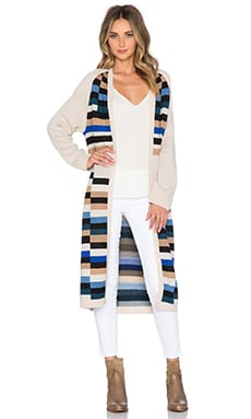 Mara Hoffman Long Cardigan in Stone Multi