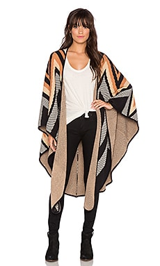 Mara Hoffman Knit Cape in Black