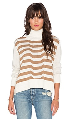 Mara Hoffman Knit Turtleneck in Stone