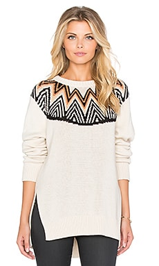 Mara Hoffman Fairisle Pullover in Cream