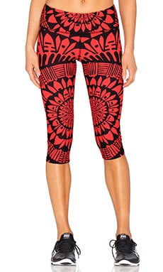 Mara Hoffman Cropped Legging in Peacefield Coral