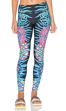 Long Legging in Black Multi