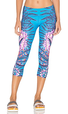 Cropped Legging in Aqua