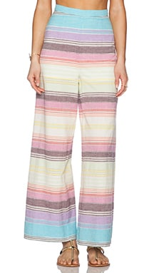 Mara Hoffman Wide Leg Pant in Rainbow Stripe