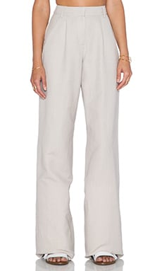 Mara Hoffman Linen Trousers in Taupe