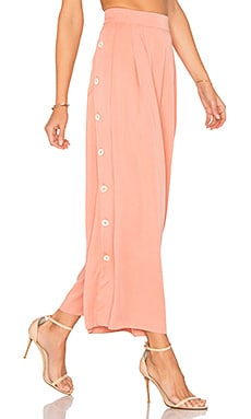 Button Side Culottes in Apricot