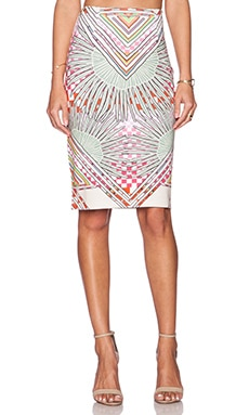 Mara Hoffman High Waisted Skirt in Rainbow Palm Stone