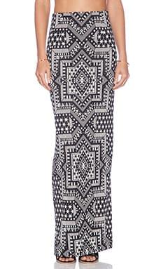 Mara Hoffman High Waisted Maxi Skirt in Star Jacquard