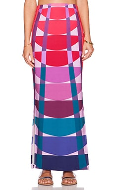 Mara Hoffman Column Maxi Skirt in Beams Navy