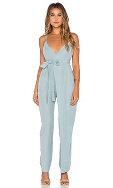 Mara Hoffman Cross Front Jumpsuit in Slate