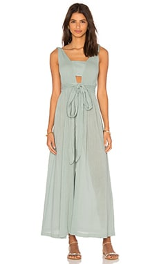 V Neck Jumpsuit in Sage