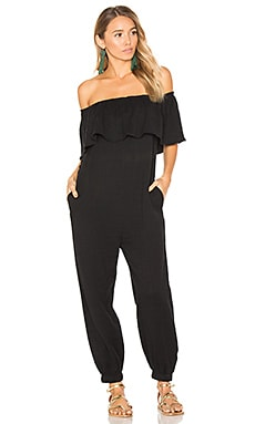 Off The Shoulder Jumpsuit in Black