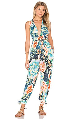 Wrap Back Jumpsuit in Arcadia Indigo