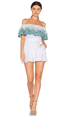 Off The Shoulder Romper in White