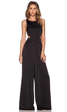 Mara Hoffman Cut Out Jumpsuit in Black