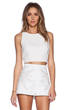 Mara Hoffman Linen Crop Top in White