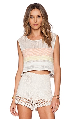 Mara Hoffman Embellished Top in White