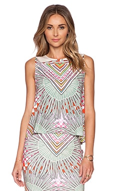 Mara Hoffman Open Back Top in Rainbow Palm Stone