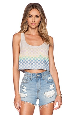 Mara Hoffman Beaded Crop Top in Taupe