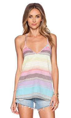 Mara Hoffman Cami Tank Top in Rainbow Stripe