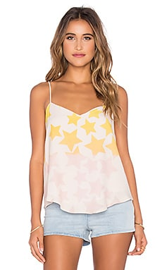 Mara Hoffman V-Neck Tank Top in Star Blast Pink