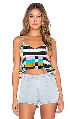 Mara Hoffman Cropped Top in Flag Stripe Rainbow