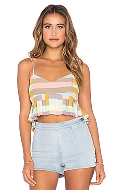 Cropped Top in Flag Stripe Sage