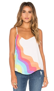 Mara Hoffman V Neck Tank Top in Auralight