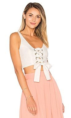 Lace Up Bustier Top in White
